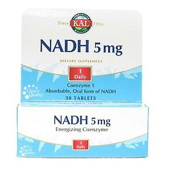 Kal NADH energizing coenzyme 5 mg 30 Tablets