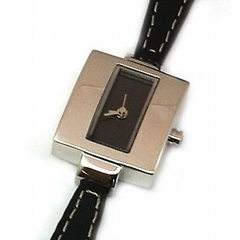 GIORDANO 2057-1 Ladies Black Leather Strap Watch