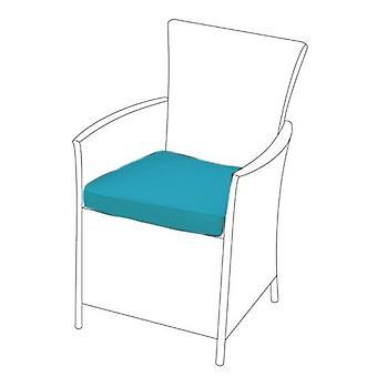Cojín de asiento turquesa para silla rattan, Pack de 4