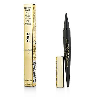 Yves Saint Laurent Couture Kajal 3 In 1 Eye Pencil (khol/eyeliner/eye Shadow) - #1 Noir Ardent - 1,5 g/0,05 Unzen
