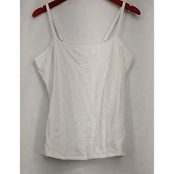 Liz Claiborne York Camisole Scoop Neck w/ Adjustable Straps White A231828