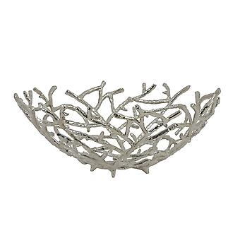 Light & Living Fruit Bowl Ø45X18,5 Cm Rahmi Nickel