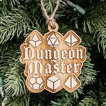 Ornament - dungeon master - raw wood 3x3in