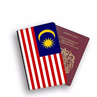 MALAYSIA Flag Passport Holder Style Case Cover Protective Wallet Flags design