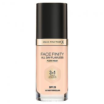 Max Factor Facefinity All Day Flawless Foundation 30ml Fair Porcelain