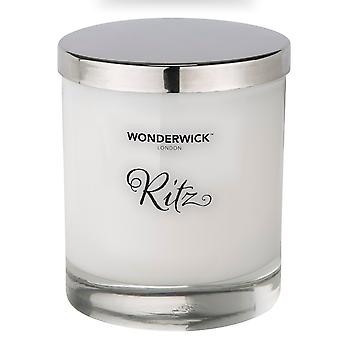 Wonderwick Blanc Kerze in Glas - Ritz
