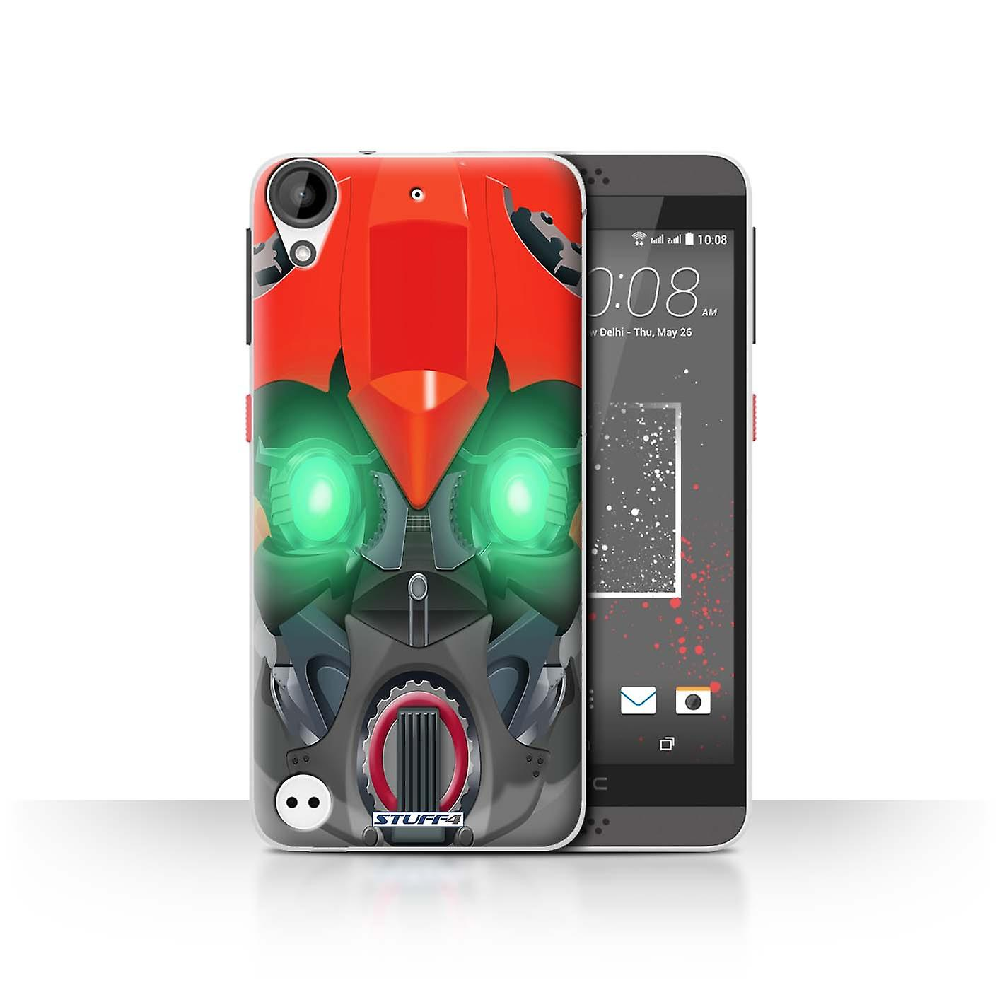 STUFF4 Case/Cover for HTC Desire 530/Bumble-Bot Red/Robots