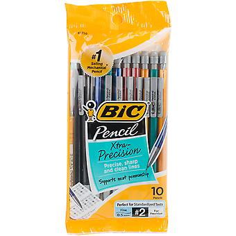 BIC Xtra Precision Mechanical Pencils 10/Pkg-Metallic Barrels MPLMFP10