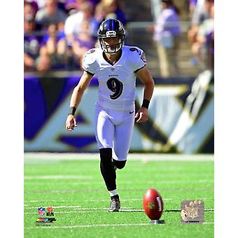 Justin Tucker 2014 Action Photo Print