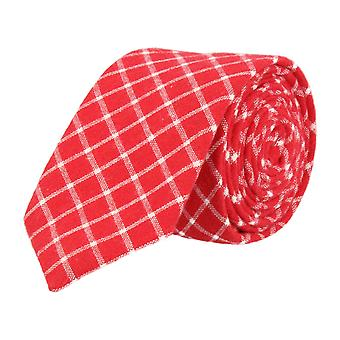 Mr. icone narrow tie Club tie red diamond pattern