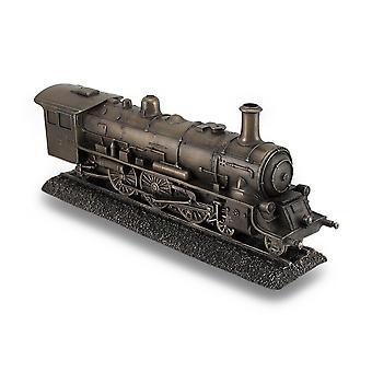 Bronze Finish Steam Locomotive Engine Statue Incredibly Detailed Train