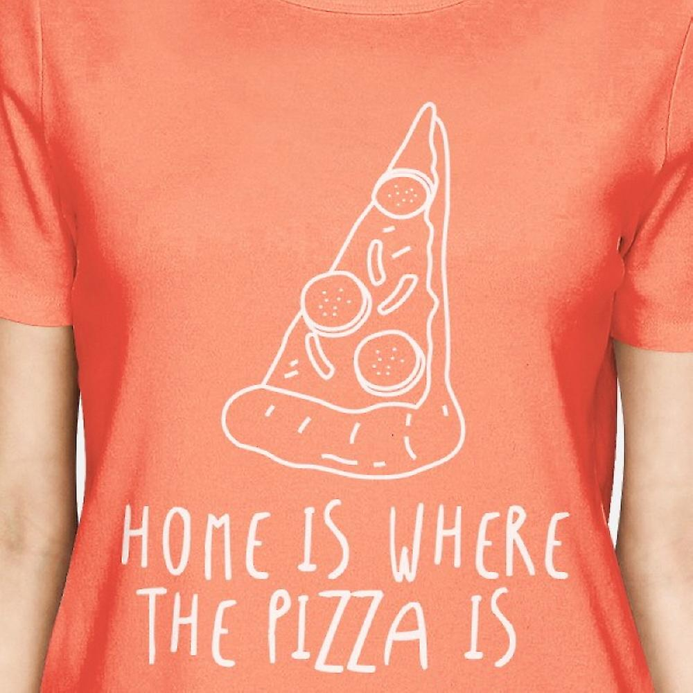 Maison où la Pizza est femme chemise pêche Funny T-shirt graphique