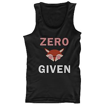 Zero Fox Given Men's Tank Top Black Sleeveless Shirt Funny Back To School Tanks