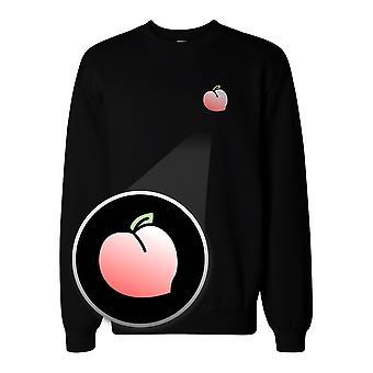 Peach Pocket Print Sweatshirt Back To School Unisex Sweat Shirt