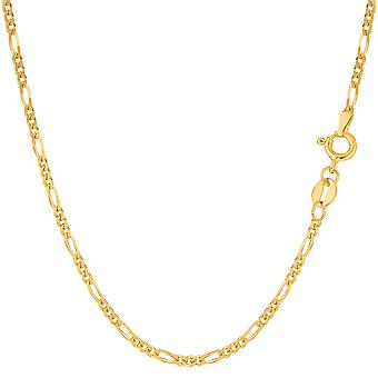 10k Yellow Gold Royal Figaro Chain Bracelet, 1.9mm, 7