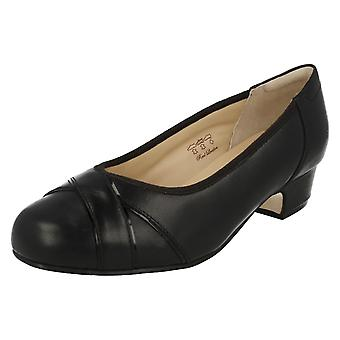 Ladies Equity Wide Fit Low Heel Court Shoes Cressida
