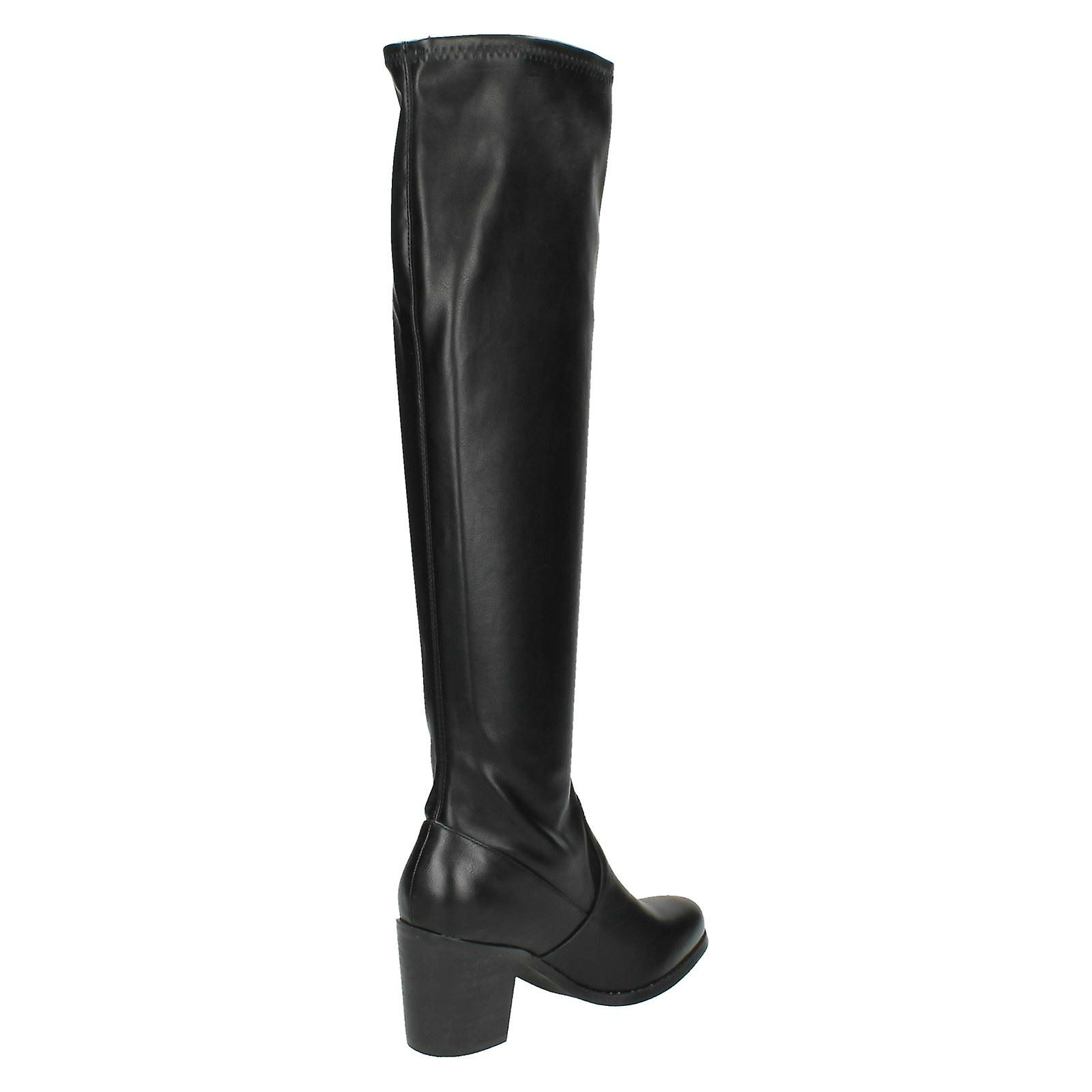 Block Spot F50352 Knee Length High On Heel Womens Boot vt8Xwdqd