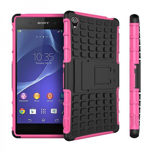 Hybrid case 2 piece SWL robot Pink for Sony Xperia Z3 D6653 L55T