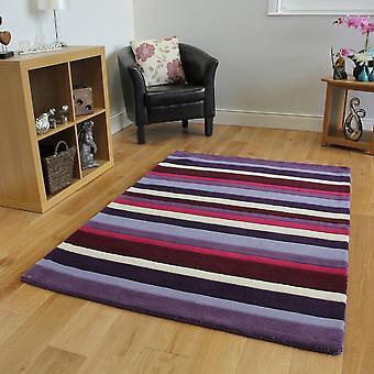 Purple Aubergine & Pink Wool Rug Kingston