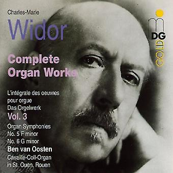 C.M. Widor - Widor: Komplet Orgelværker Vol. 3 [CD] USA import