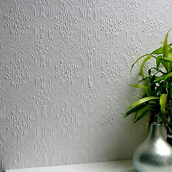 Paintable Wallpaper Luxury Embossed Textured Vinyl Berkeley Easy Apply Anaglypta