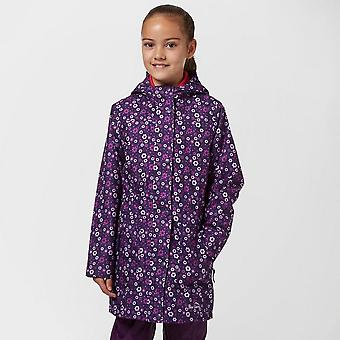 Navy Peter Storm Girls' Waterproof Patterned Jacket