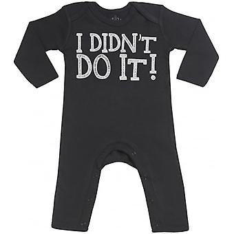 Spoilt Rotten I Didn't Do It! Baby Footless Romper
