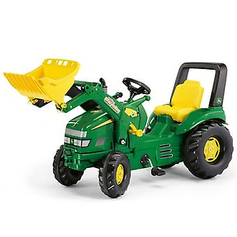 Pedal Tractor with Loader and Trailer  John Deere XTrac  Green  Rolly