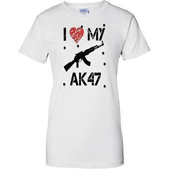 I Love My AK47 - Gamer Inspired Arcade Shooter - Ladies T Shirt