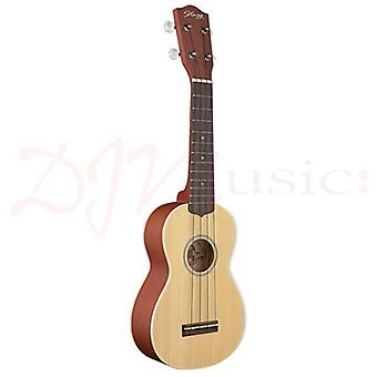 Stagg Solid Spruce Soprano Ukulele with Bag