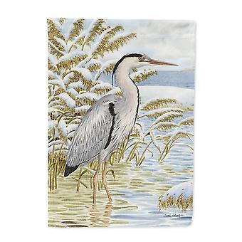 Carolines Schätze ASA2058CHF Blue Heron im Wasser Haus Leinwandgröße Flagge