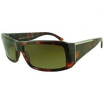 Prada Prada Havana Rectangular Sunglasses With Gradient Lenses