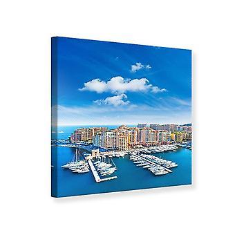 Canvas Print Skyline Panoramic Marina Principality of Monaco