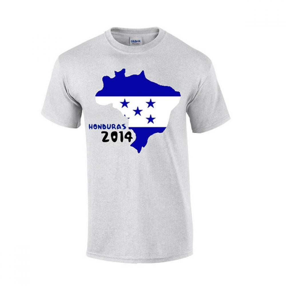 Honduras 2014 Country Flag T-shirt (grey)