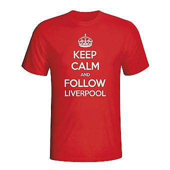 Keep Calm And Follow Liverpool T-shirt (red)