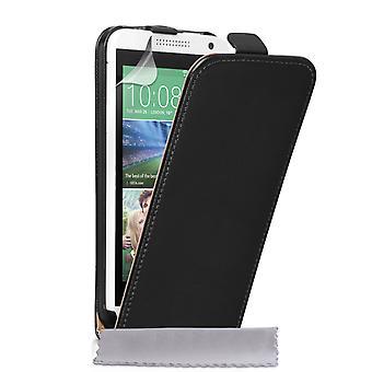 Caseflex HTC Desire 610 Real Leather Flip Case - Black