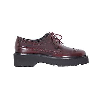 Franca ladies 6135BB Burgundy leather lace-up shoes