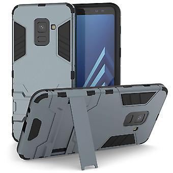 Samsung Galaxy A8 (2018) Armour Kickstand Case - staal blauw