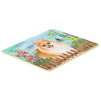 Carolines Treasures  CK1278CMT Pomeranian #2 Spring Kitchen or Bath Mat 20x30