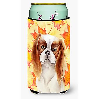 Cavalier Spaniel Fall Tall Boy Beverage Insulator Hugger