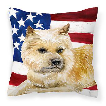 Cairn Terrier Patriotic Fabric Decorative Pillow