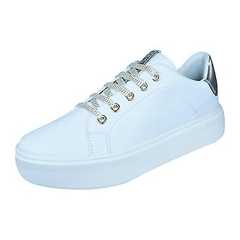 Womens Geox Trainers D Nhenbus A Nappa Leather Casual Shoes - White