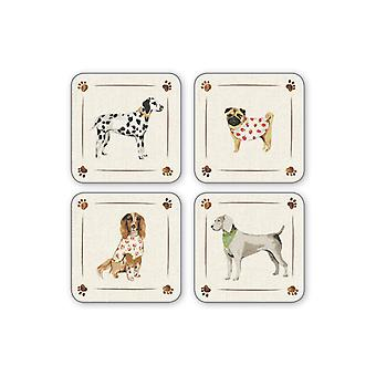 Cooksmart Best In Show Dog Design Coasters, Set of 4
