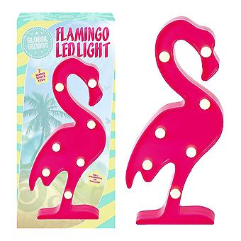 Global Gizmos Free Standing Marquee LED Flamingo, Plastic, Pink