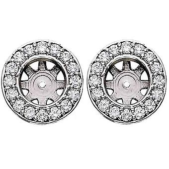 3/4ct Diamond Earring Studs Jackets 14K White Gold Fits 3/4ct Diamonds (5.5-6mm)