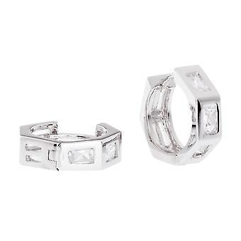 Sterling 925 Silver HOOP earrings - BLING II KING 16 mm