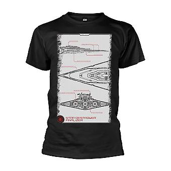 Star Wars The Force ontwaakt Star Destroyer handmatige T-Shirt