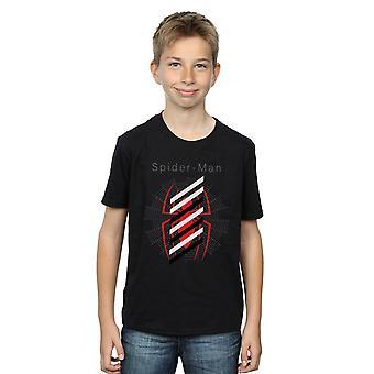 Marvel Boys Spider-Man Logo Stripes T-Shirt