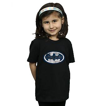 DC Comics Girls Batman Japanese Logo White T-Shirt