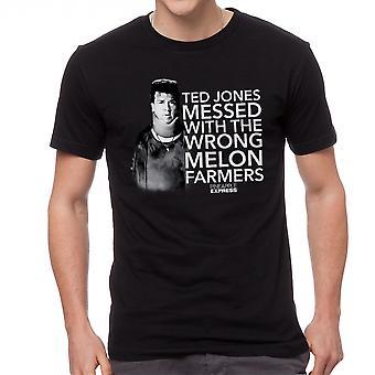 Pineapple Express Melon landmænd røde citat mænds sort T-shirt